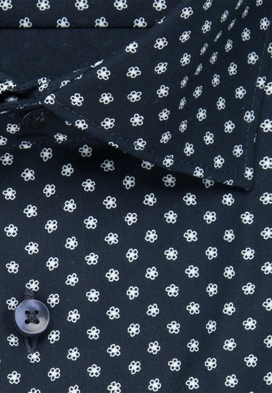 Popeline Business Hemd in Slim mit Kentkragen in Dunkelblau |  Seidensticker Onlineshop
