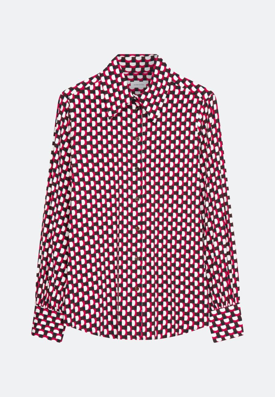 Krepp Hemdbluse aus Viskosemischung in Rot |  Seidensticker Onlineshop