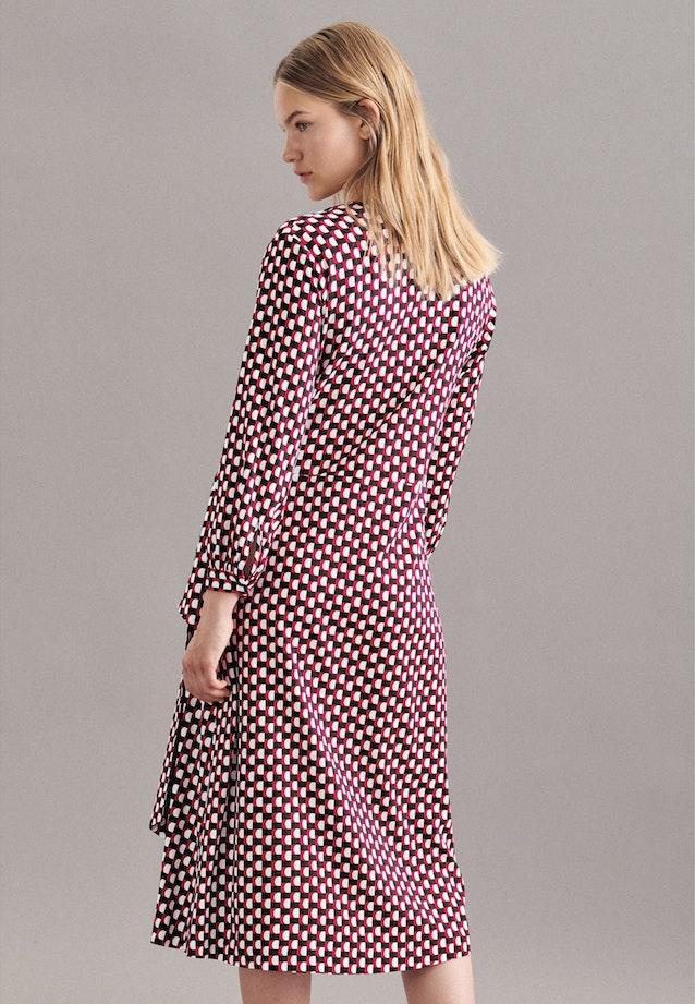 Krepp Maxi Kleid aus Viskosemischung in Rot |  Seidensticker Onlineshop
