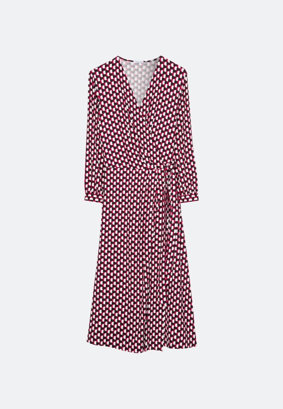 Krepp Maxi Kleid aus Viskosemischung in Rot    Seidensticker Onlineshop