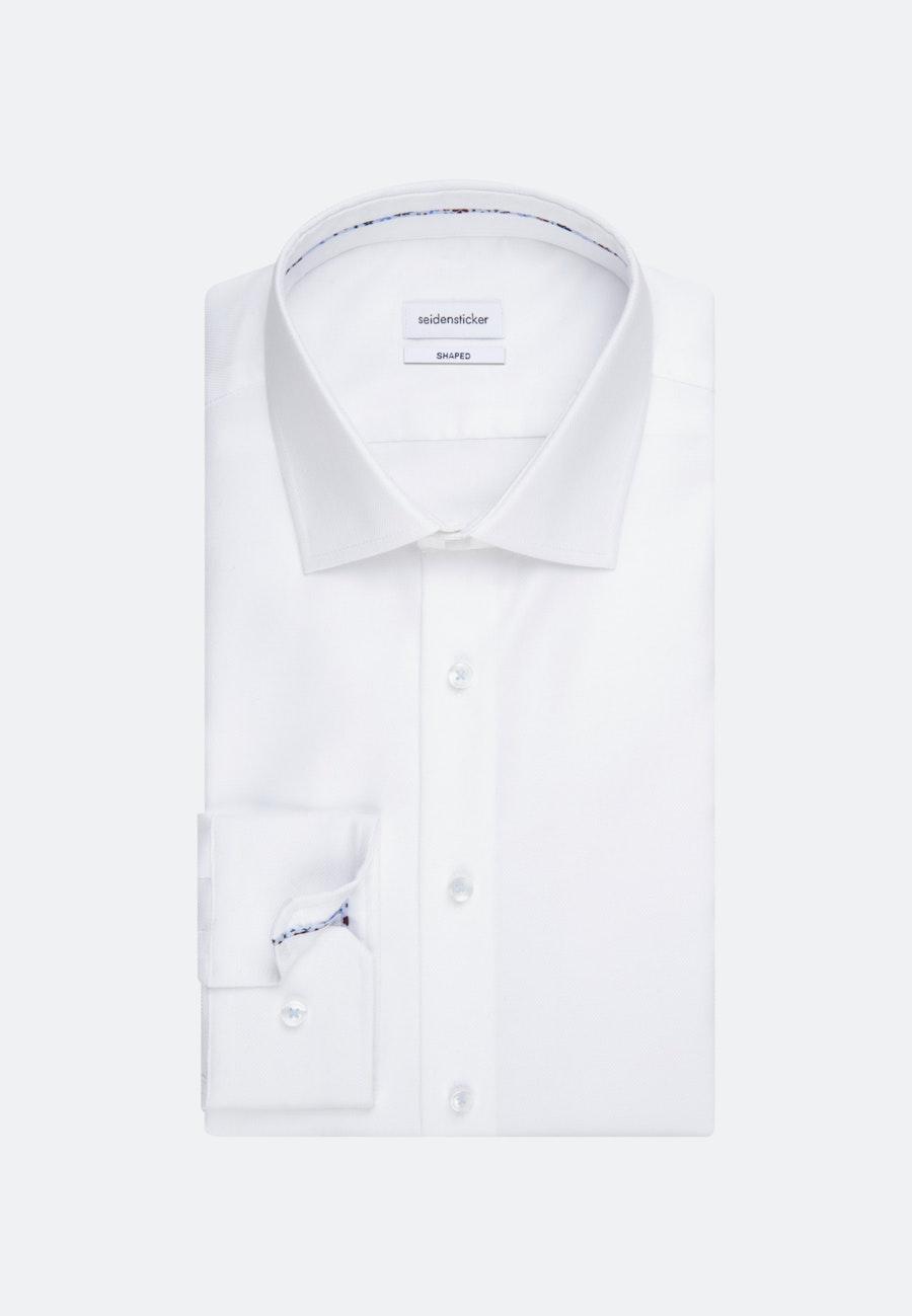 Bügelfreies Struktur Business Hemd in Shaped mit Kentkragen in Weiß    Seidensticker Onlineshop