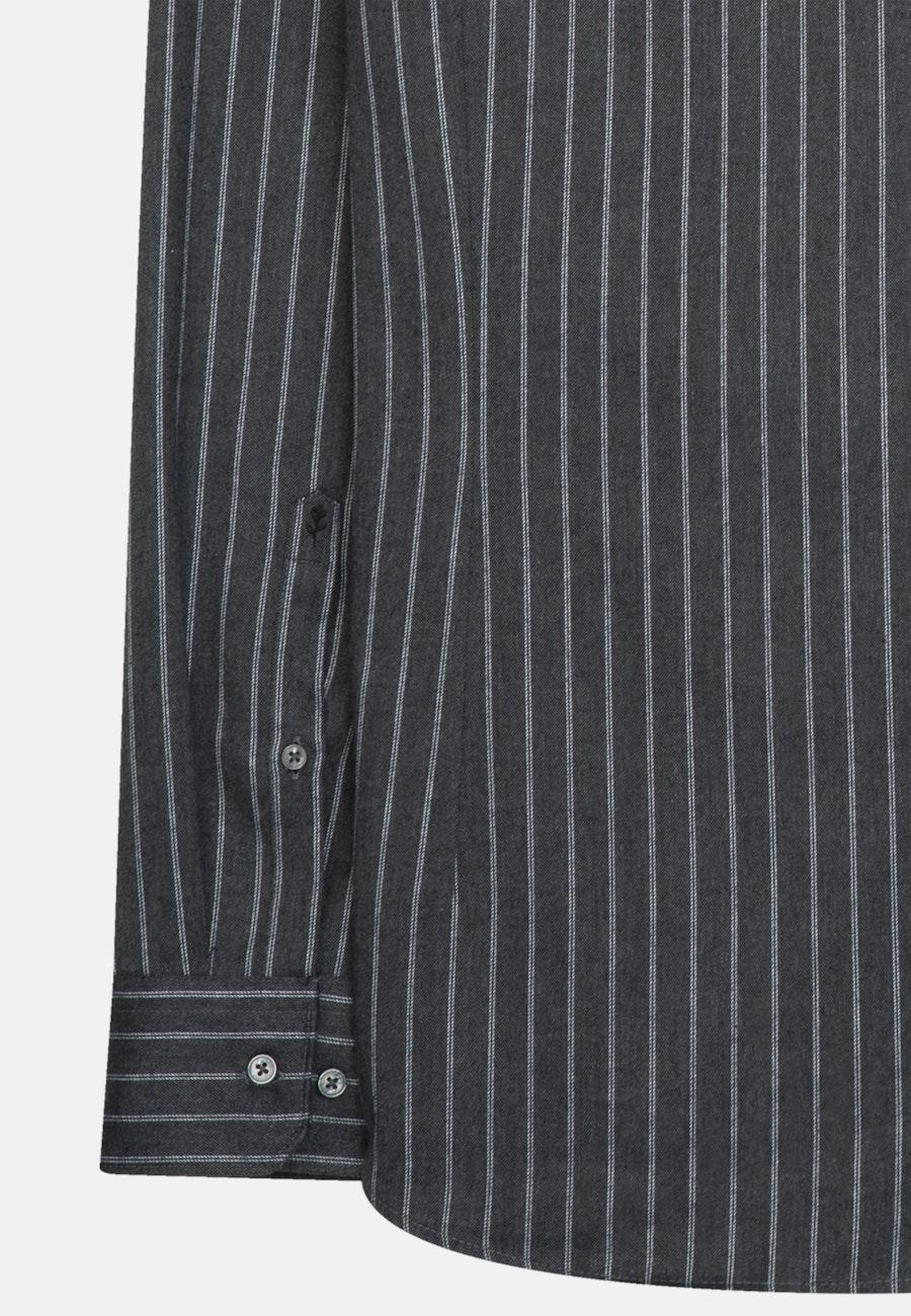 Twill Business Hemd in Slim mit Stehkragen in Grau |  Seidensticker Onlineshop