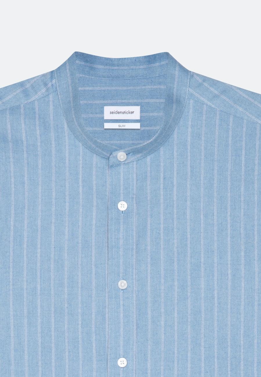 Twill Business Hemd in Slim mit Stehkragen in Hellblau |  Seidensticker Onlineshop