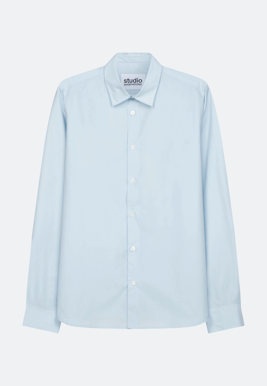 Popeline Casual Hemd in Regular mit Kentkragen in Hellblau |  Seidensticker Onlineshop