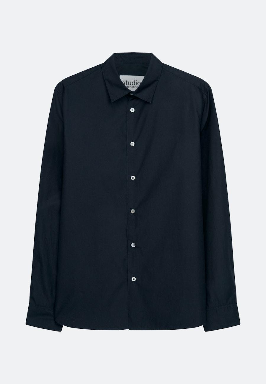 Popeline Casual Hemd in Regular mit Kentkragen in Dunkelblau    Seidensticker Onlineshop