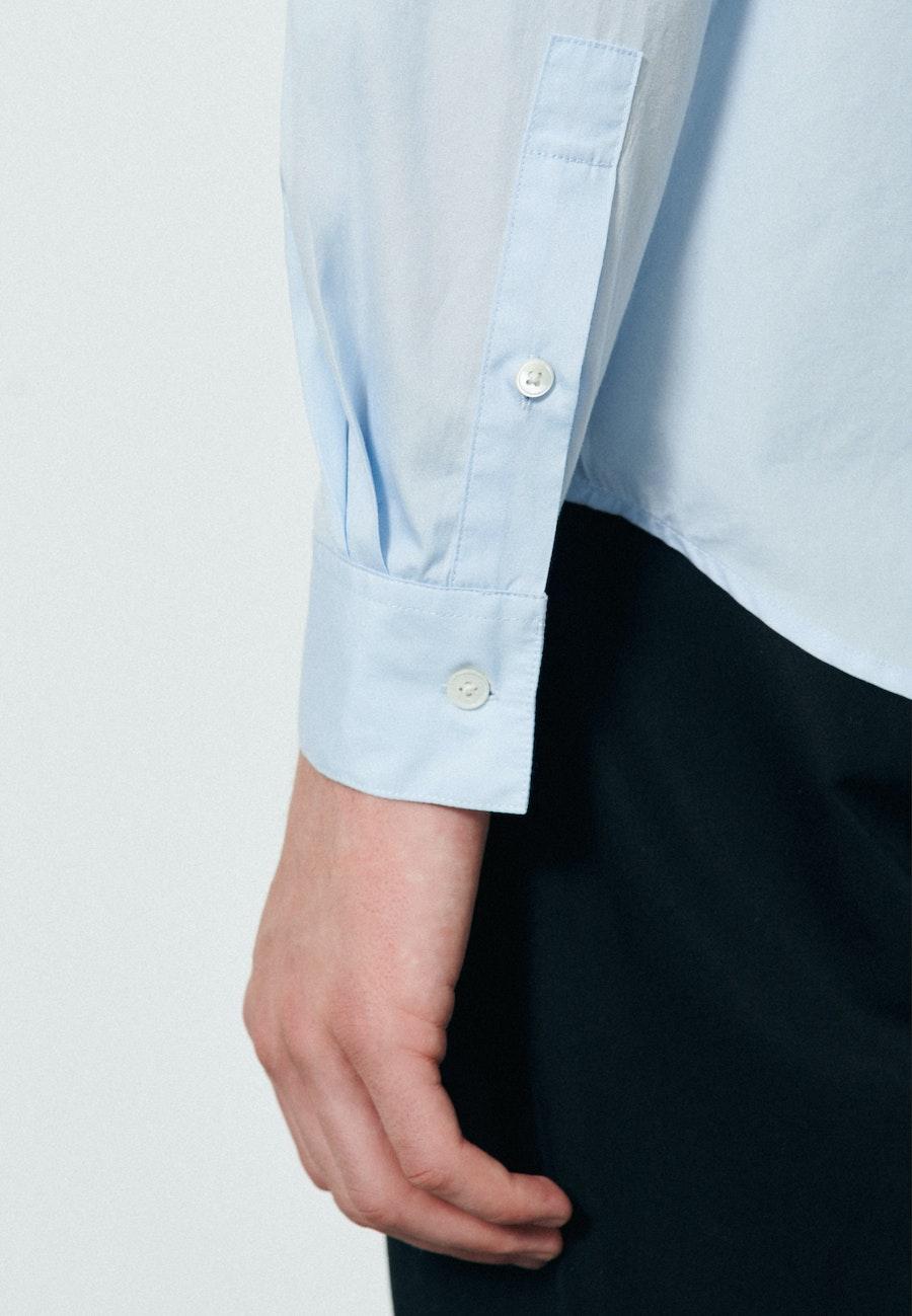 Popeline Casual Hemd in Regular mit Stehkragen in Hellblau |  Seidensticker Onlineshop