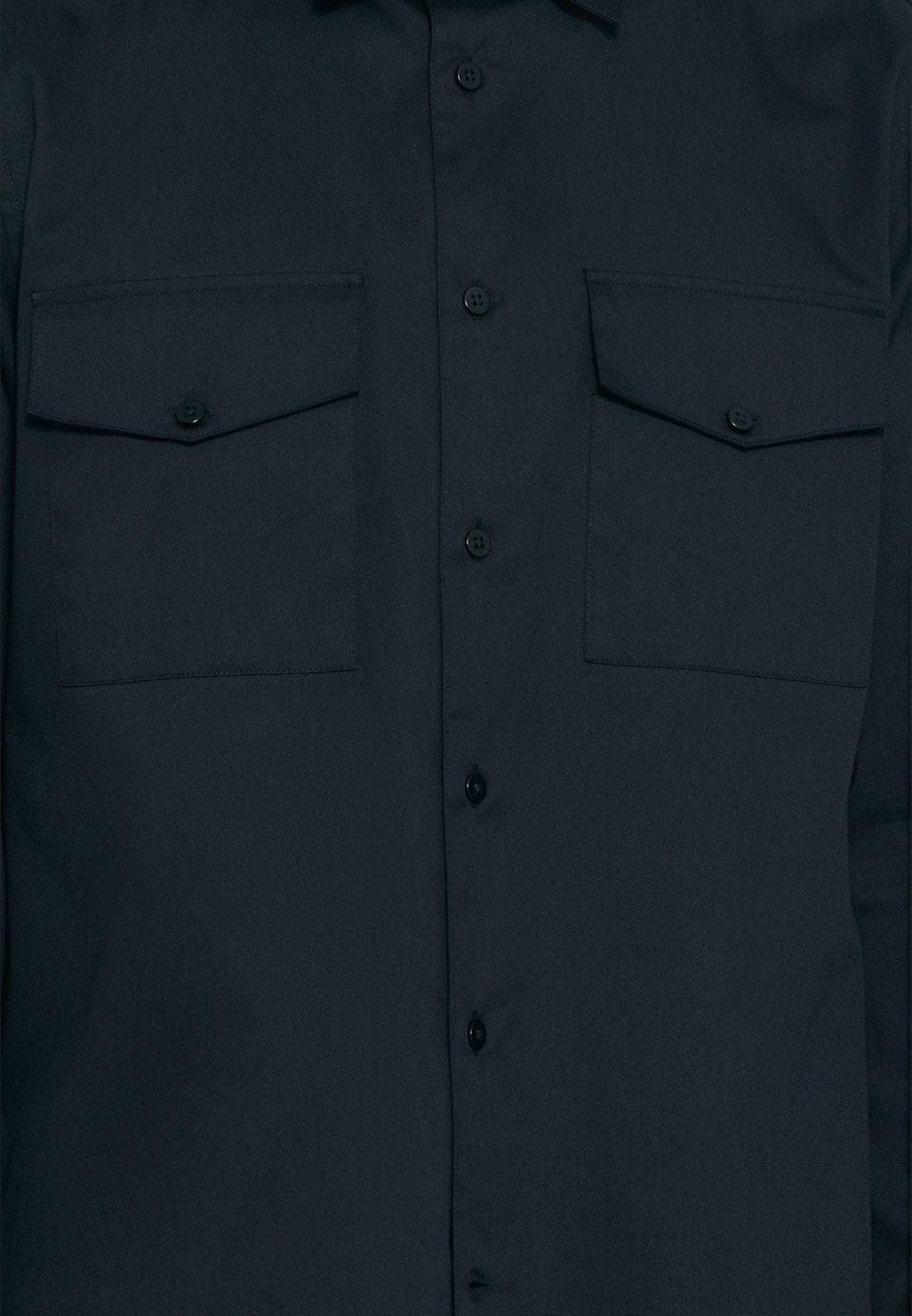 Twill Casual Hemd in Regular mit Kentkragen in Schwarz |  Seidensticker Onlineshop