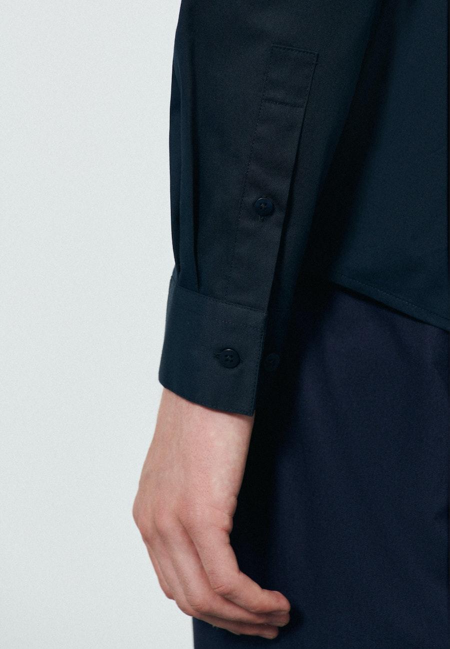 Twill Casual Hemd in Regular mit Kentkragen in Dunkelblau |  Seidensticker Onlineshop