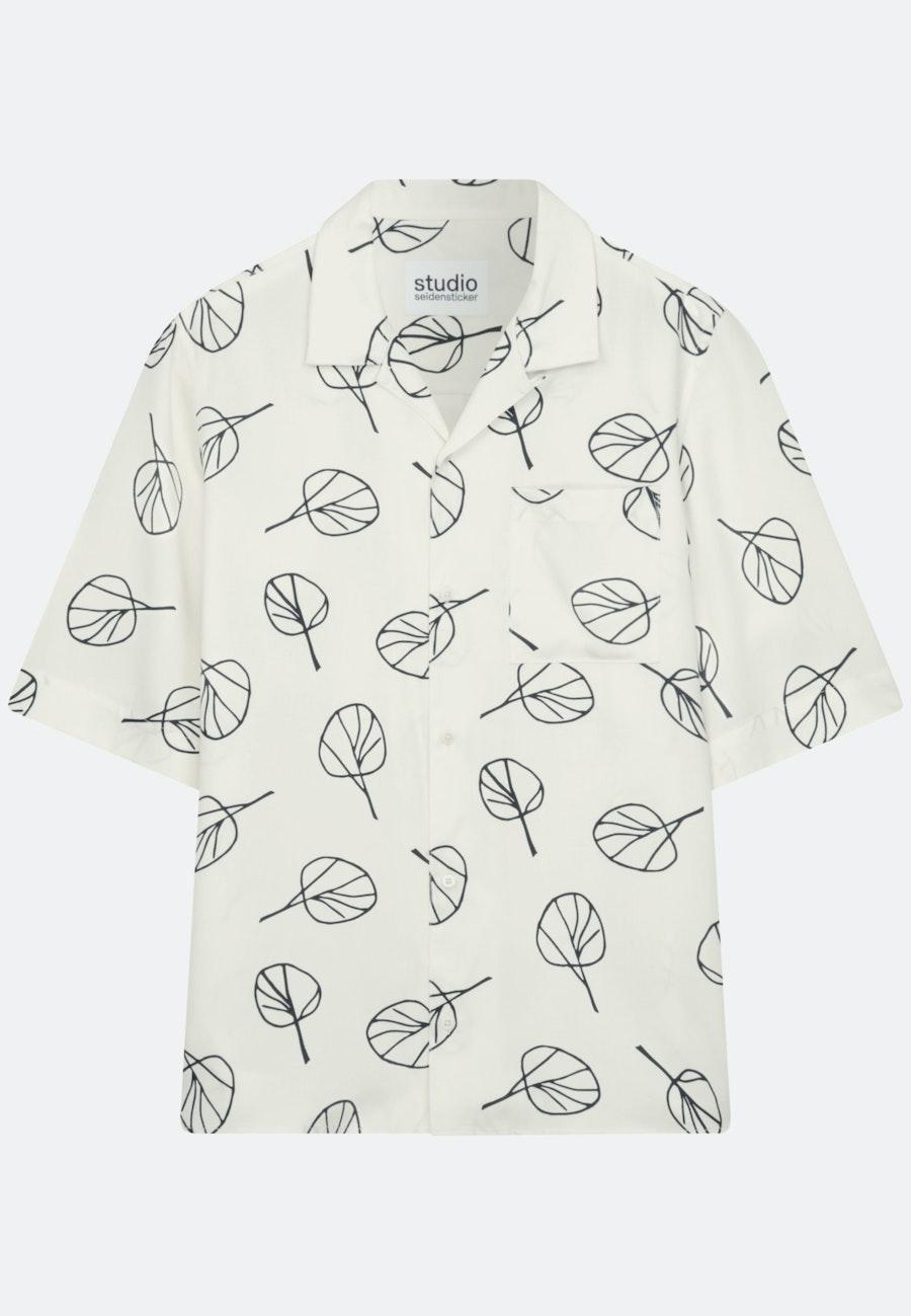Twill Kurzarm Casual Hemd in Oversized fit mit Reverskragen in Ecru |  Seidensticker Onlineshop