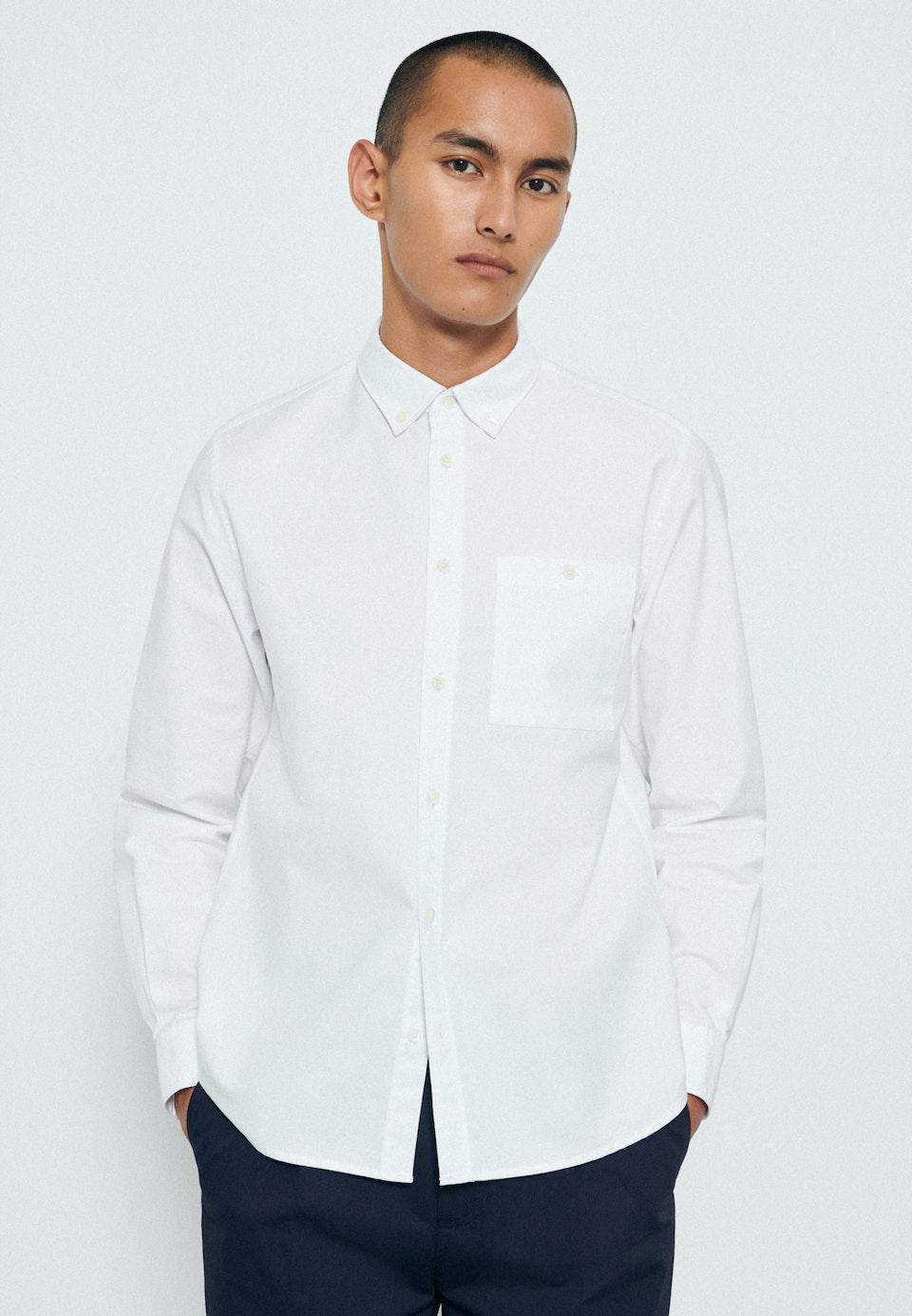 Oxfordhemd in Regular mit Button-Down-Kragen in Weiß    Seidensticker Onlineshop