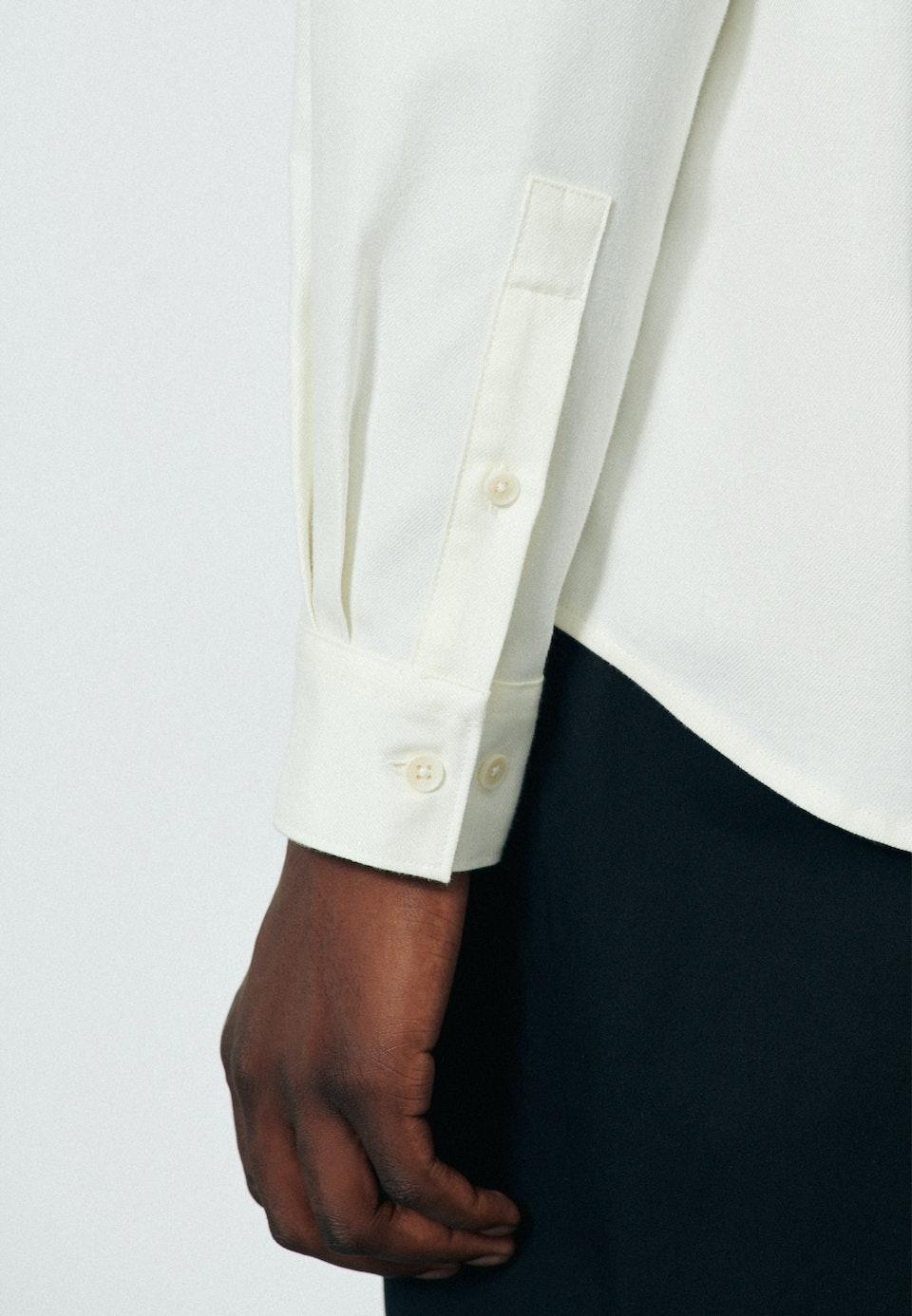 Twill Casual Hemd in Regular mit Button-Down-Kragen in Ecru |  Seidensticker Onlineshop