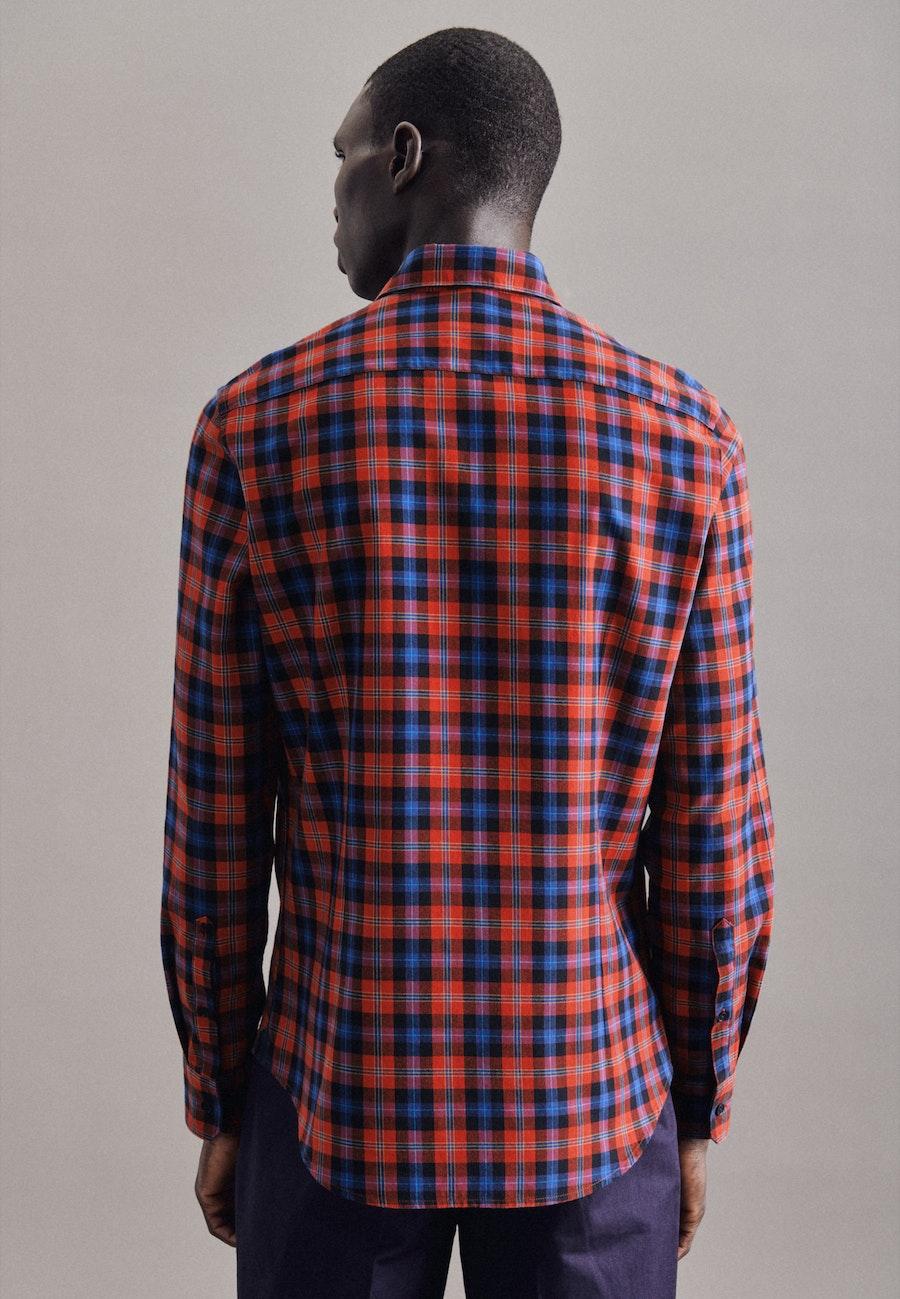 Twill Casual Hemd in Slim mit Button-Down-Kragen in Orange |  Seidensticker Onlineshop