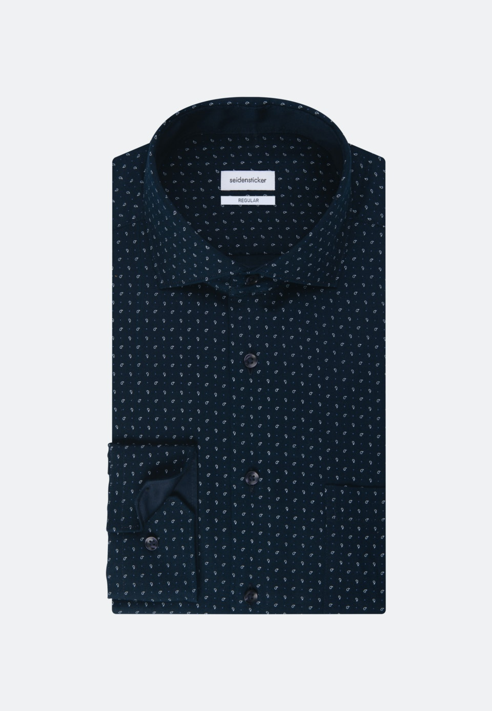 Twill Business Hemd in Regular mit Kentkragen in Dunkelblau |  Seidensticker Onlineshop
