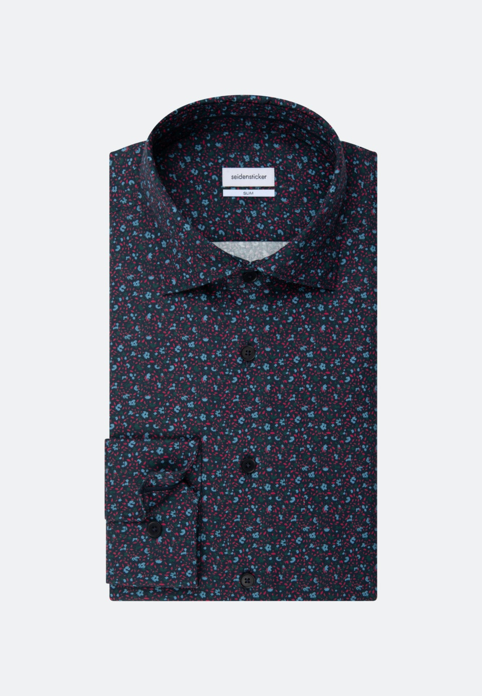 Twill Casual Hemd in Slim mit Kentkragen in Dunkelblau |  Seidensticker Onlineshop