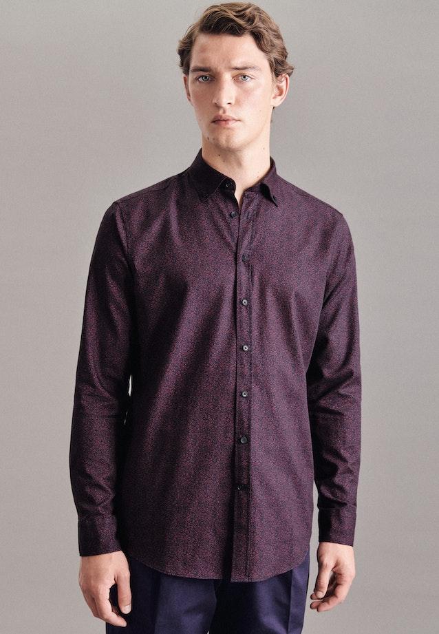 Twill Casual Hemd in Regular mit Button-Down-Kragen in Rot |  Seidensticker Onlineshop