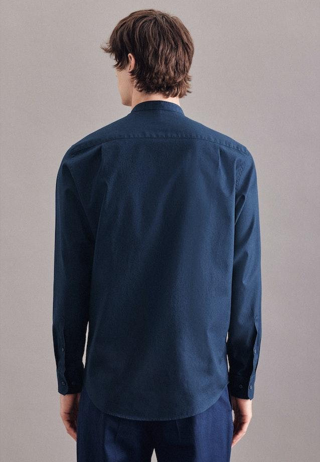 Easy-iron Twill Business Shirt in Regular with Stand-Up Collar in Dark blue |  Seidensticker Onlineshop