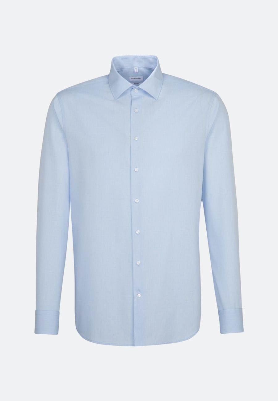 Non-iron Popeline Business Shirt in Shaped with Kent-Collar in Light blue |  Seidensticker Onlineshop