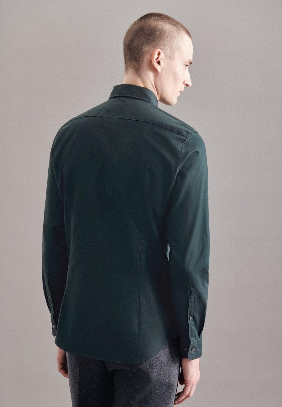 Bügelleichtes Twill Business Hemd in Slim mit Kentkragen in Grün |  Seidensticker Onlineshop