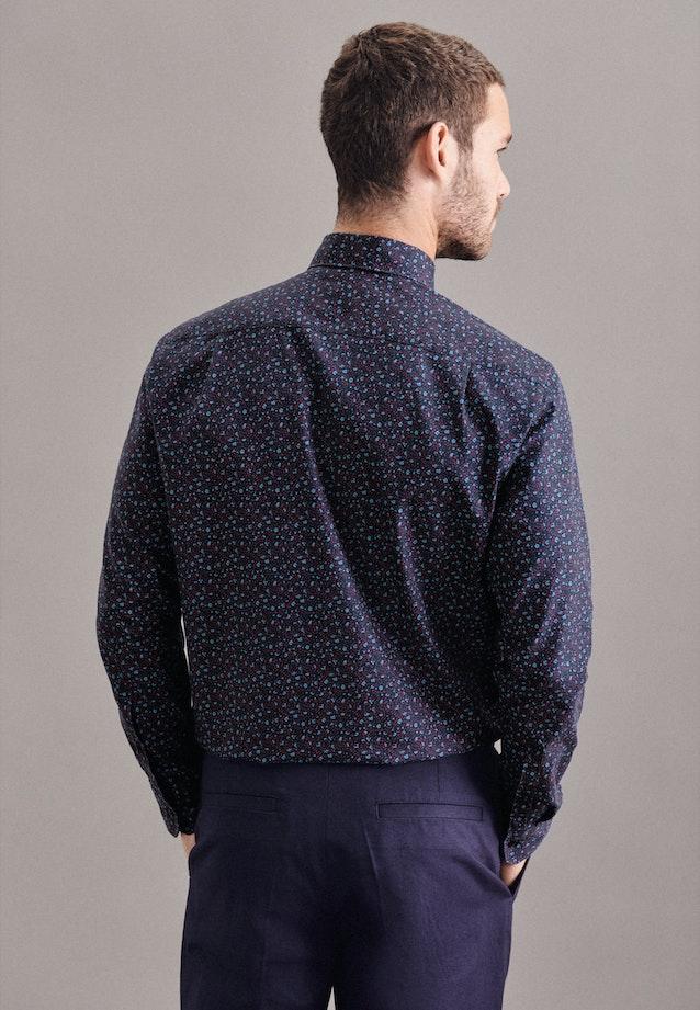 Twill Casual Shirt in Regular with Kent-Collar in Dark blue |  Seidensticker Onlineshop