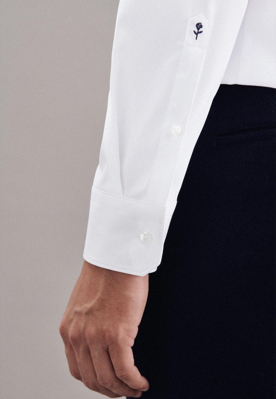 Performancehemd in Shaped mit Kentkragen in Weiß    Seidensticker Onlineshop