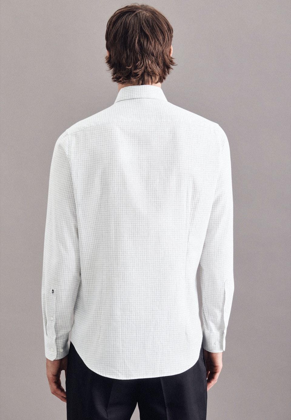Bügelleichtes Twill Business Hemd in Slim mit Kentkragen in Grau    Seidensticker Onlineshop