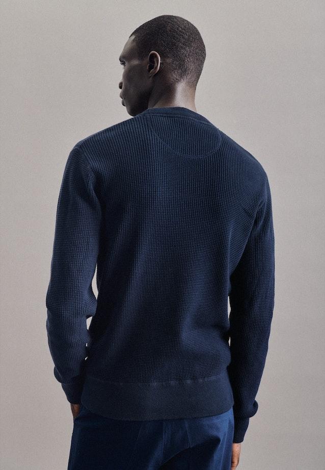 Crew Neck Pullover made of 100% Cotton in Dark blue    Seidensticker Onlineshop