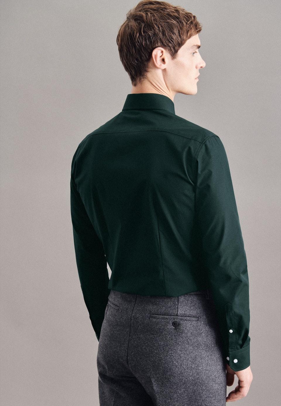 Bügelleichtes Popeline Business Hemd in X-Slim mit Kentkragen in Grün |  Seidensticker Onlineshop