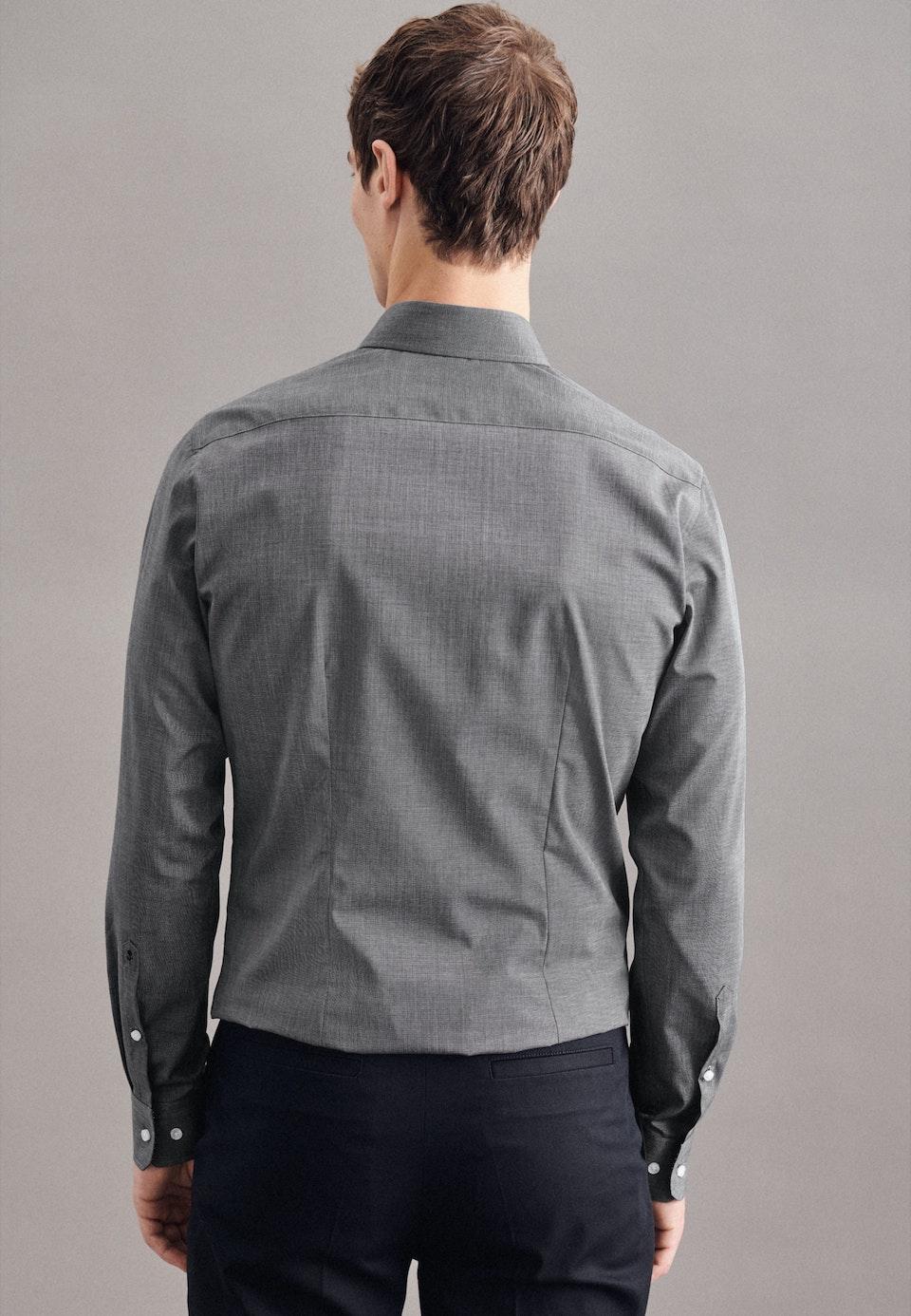 Bügelleichtes Popeline Business Hemd in X-Slim mit Kentkragen in Grau    Seidensticker Onlineshop