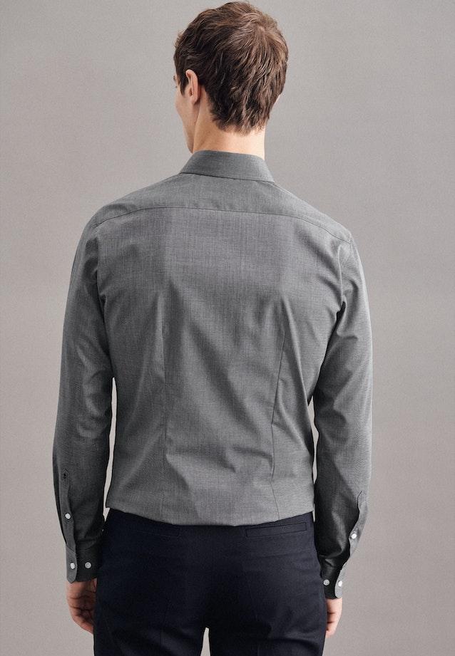 Bügelleichtes Popeline Business Hemd in X-Slim mit Kentkragen in Grau |  Seidensticker Onlineshop