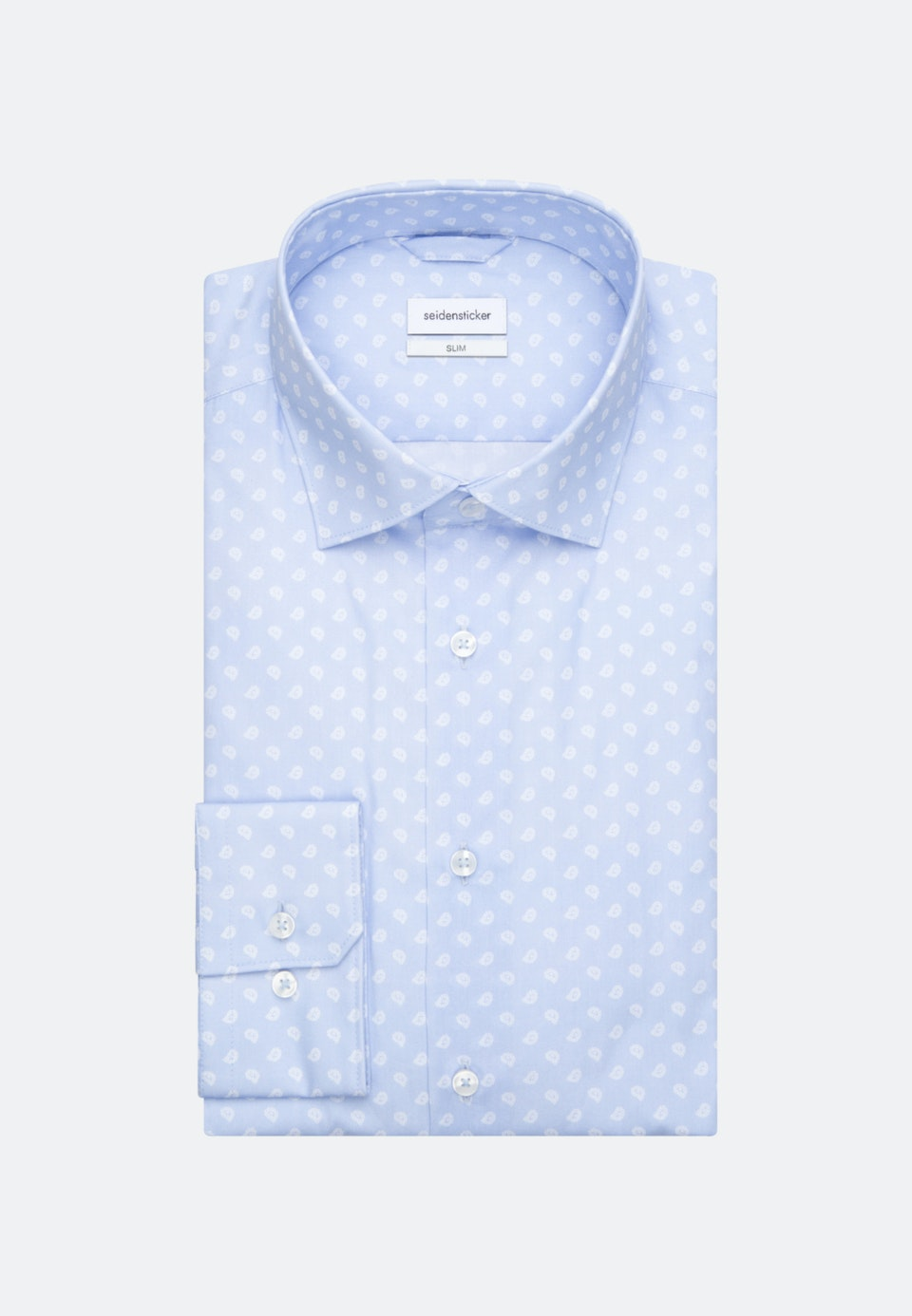Popeline Business Hemd in Slim mit Kentkragen in Hellblau    Seidensticker Onlineshop