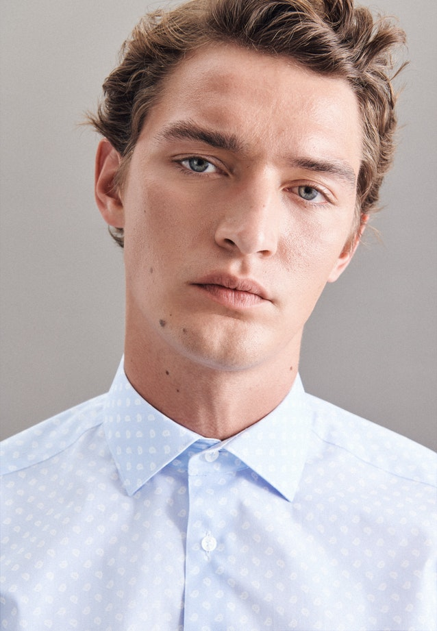 Poplin Business Shirt in Regular with Kent-Collar in Light blue |  Seidensticker Onlineshop