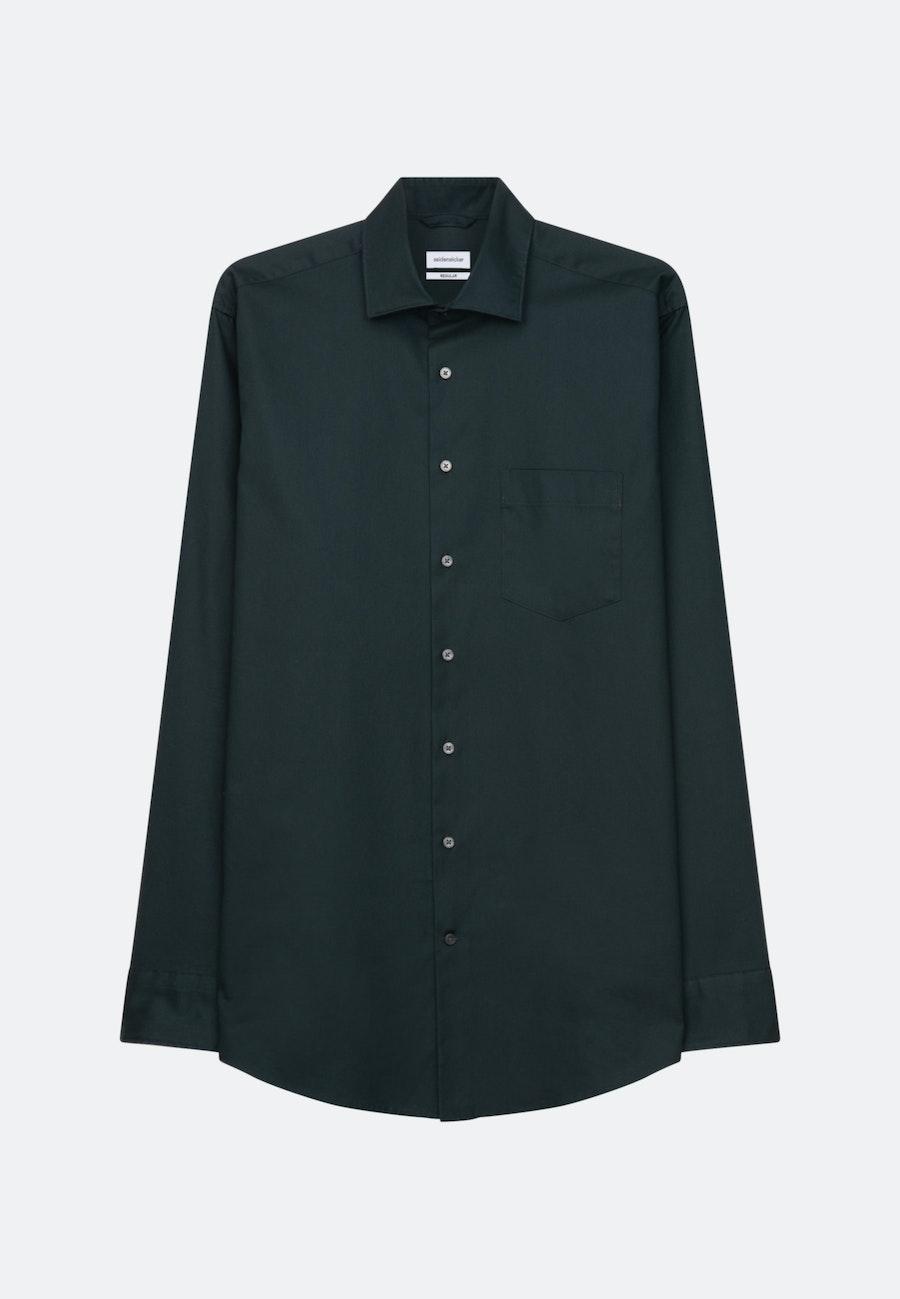 Bügelleichtes Twill Business Hemd in Regular mit Kentkragen in Grün |  Seidensticker Onlineshop