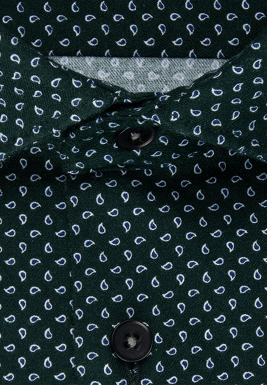 Twill Casual Hemd in Regular mit Kentkragen in Grün    Seidensticker Onlineshop