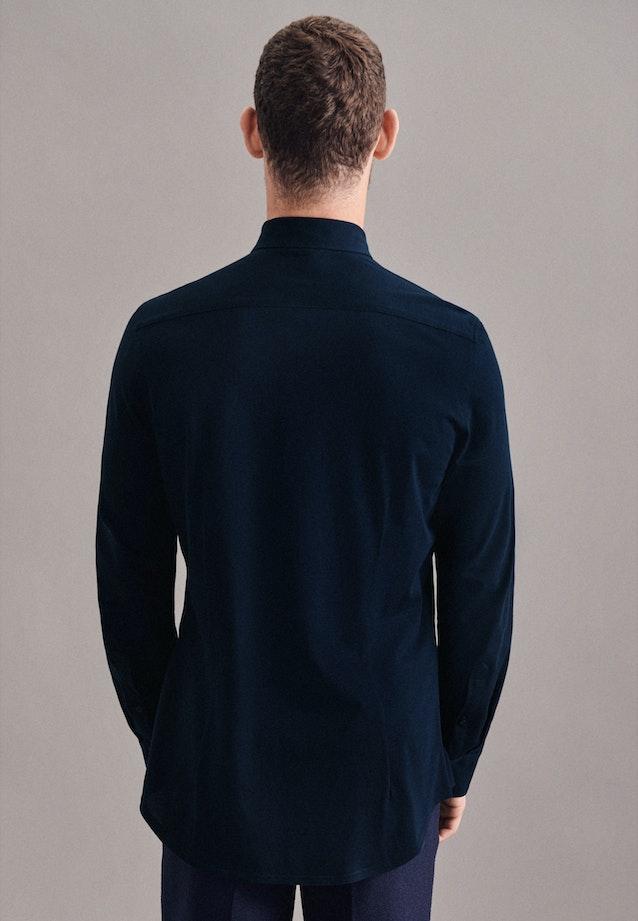 Performance shirt in Slim with Kent-Collar in Dark blue    Seidensticker Onlineshop