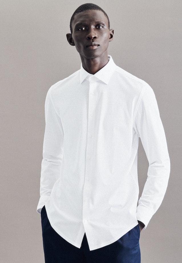 Performancehemd in Slim mit Kentkragen in Weiß |  Seidensticker Onlineshop