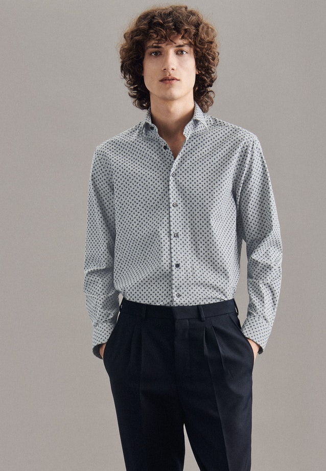 Twill Casual Hemd in Regular mit Kentkragen in Grau |  Seidensticker Onlineshop