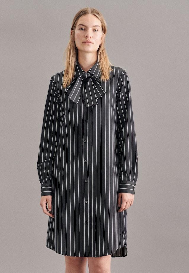 Satin Midi Dress made of 100% Cotton in Black |  Seidensticker Onlineshop