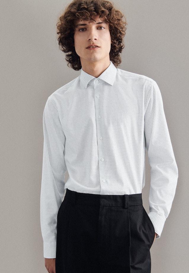 Easy-iron Twill Business Shirt in Regular with Kent-Collar in Grey    Seidensticker Onlineshop