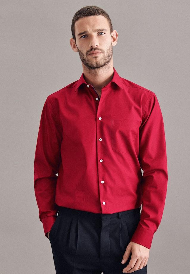 Non-iron Poplin Business Shirt in Regular with Kent-Collar in Red    Seidensticker Onlineshop