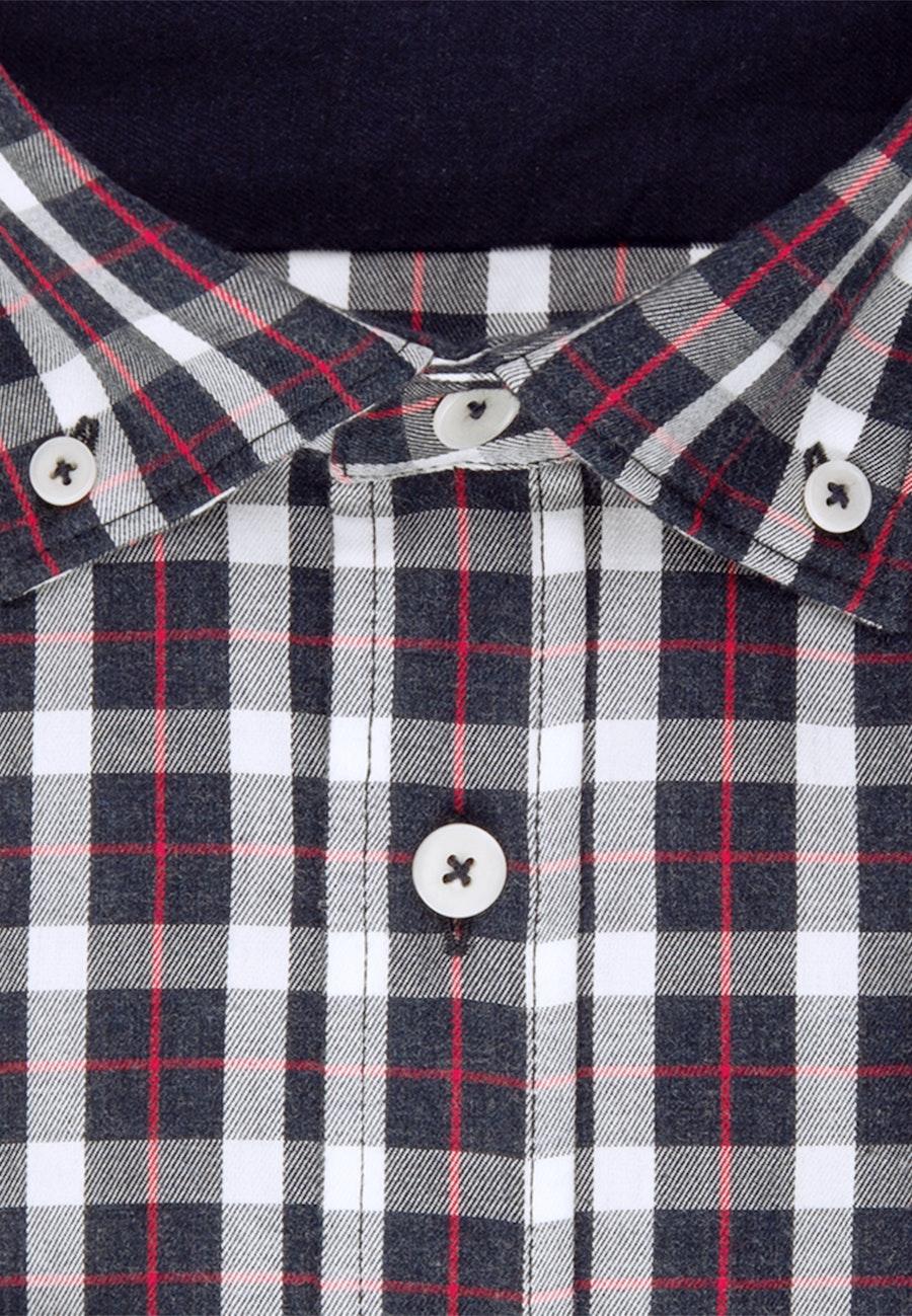 Twill Casual Hemd in Regular mit Button-Down-Kragen in Dunkelblau |  Seidensticker Onlineshop