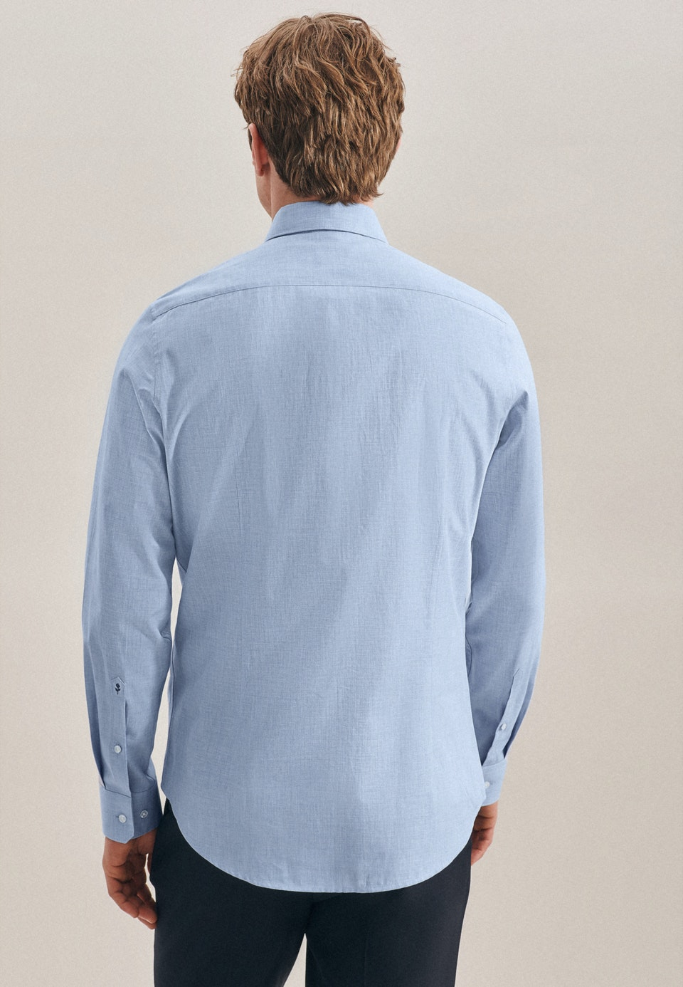 Bügelleichtes Twill Business Hemd in Slim mit Kentkragen in Hellblau |  Seidensticker Onlineshop