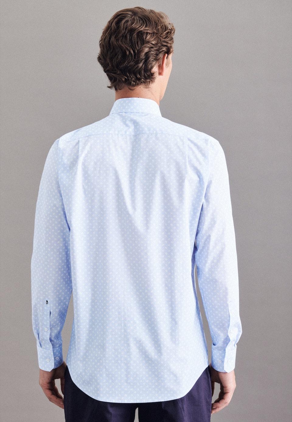 Popeline Business Hemd in Regular mit Kentkragen und extra langem Arm in Hellblau |  Seidensticker Onlineshop