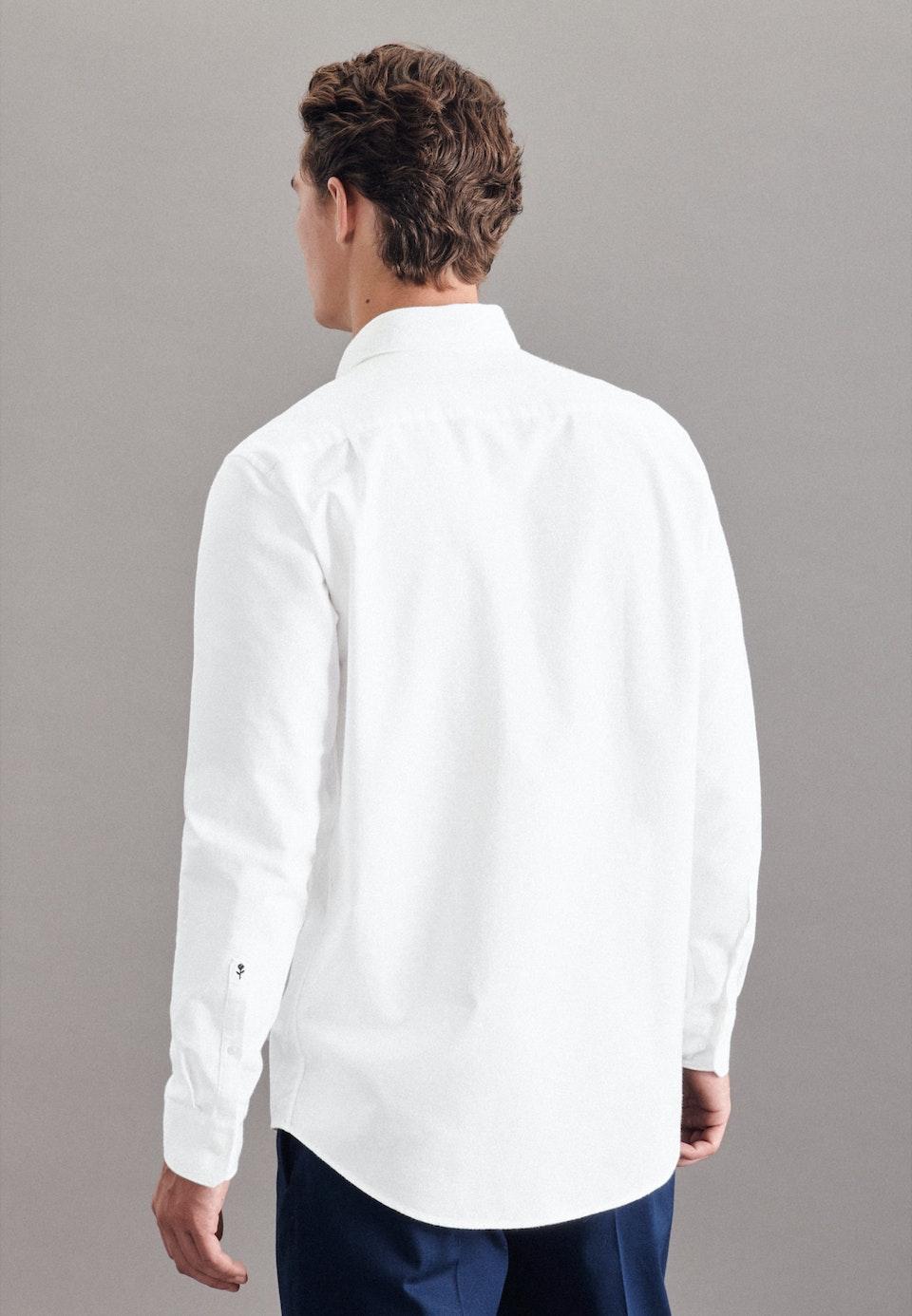Oxfordhemd in Regular mit Kentkragen in Weiß    Seidensticker Onlineshop