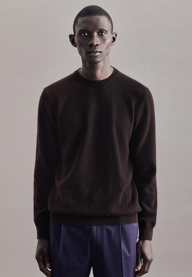 Crew Neck Pullover wool blend in Brown    Seidensticker Onlineshop