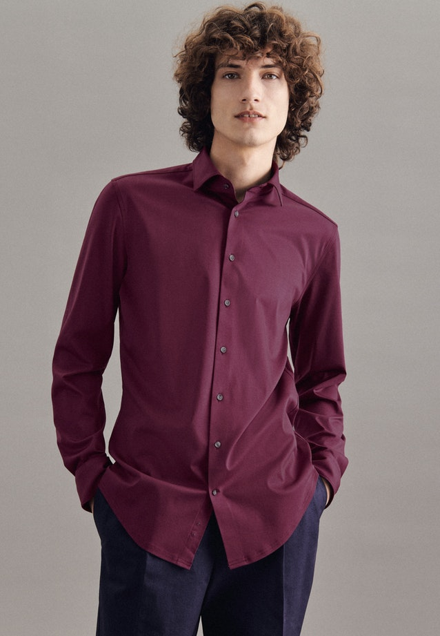 Jersey shirt in Shaped with Kent-Collar in Red |  Seidensticker Onlineshop