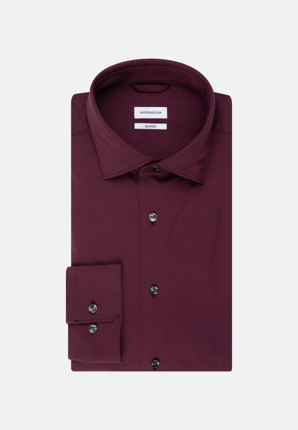 Jerseyhemd in Shaped mit Kentkragen in Rot |  Seidensticker Onlineshop