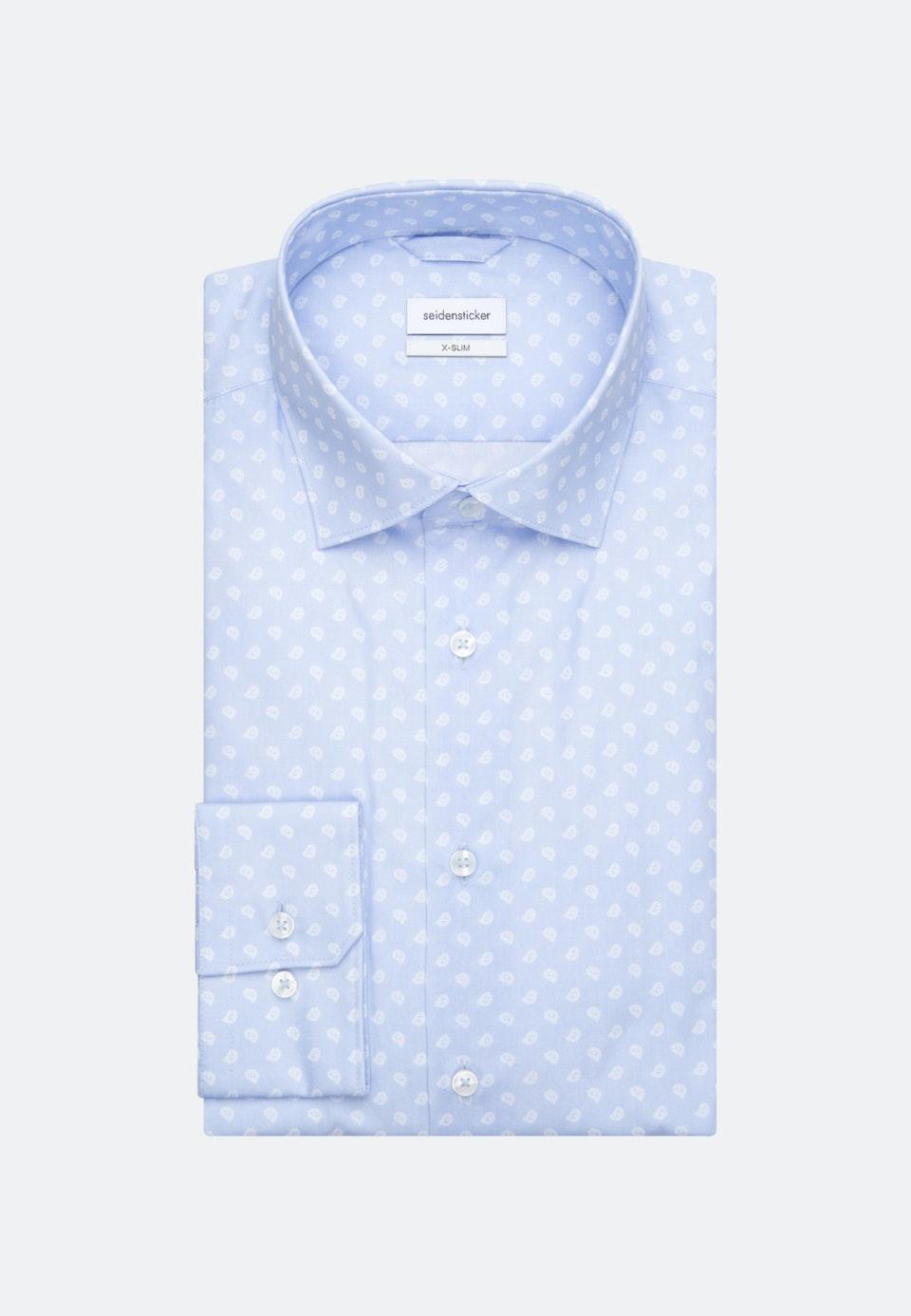Popeline Business Hemd in X-Slim mit Kentkragen in Hellblau |  Seidensticker Onlineshop