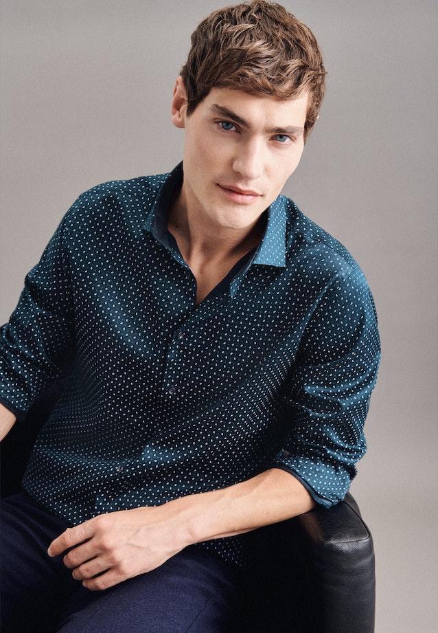 Twill Business Hemd in Slim mit Kentkragen und extra langem Arm in Dunkelblau |  Seidensticker Onlineshop