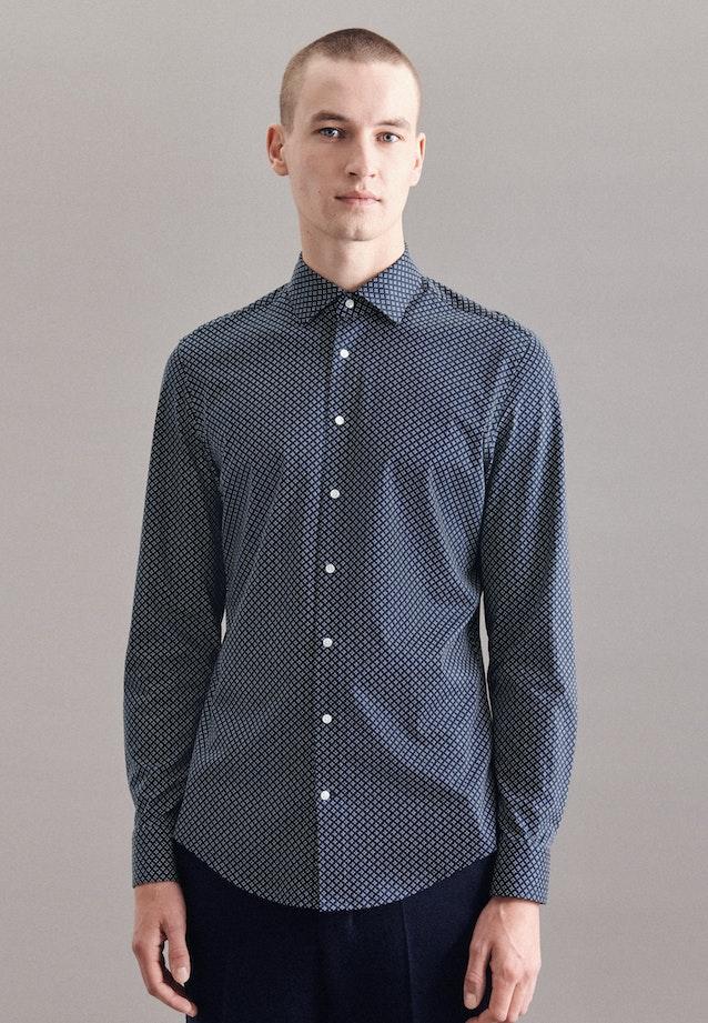 Jersey shirt in Shaped with Kent-Collar in Dark blue |  Seidensticker Onlineshop