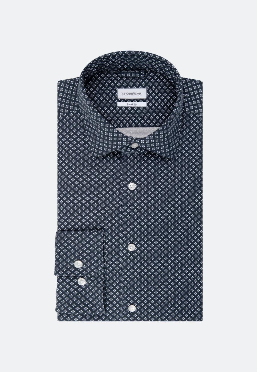 Jerseyhemd in Shaped mit Kentkragen in Dunkelblau    Seidensticker Onlineshop
